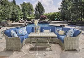 Semi Circle Patio Furniture by Outdoor Patio Sectional Sofas U0026 Loveseats Wayfair
