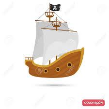 100 Design A Pirate Ship Ship Color Flat Icon For Web And Mobile Design