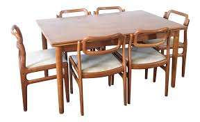 1960s Danish Modern Johannes Andersen Dining Table And Chairs - 7 ... Niels Otto Mller Two Ding Room Chairs Model No 85 Teak And 1960s Ercol Grand Windsor Ding Table Eight Chairs Teak Set For Sale At Pamono Three Room Total 3 Movietv Lot Chair Scdinavian Design Style Cover Etsy 8 Vintage Armchairs Burgess Parker Fler Heywoodwakefield With Six Usa At 1stdibs Sarah Potter Midcentury Modern Fniture 4 From Gplan For Sale Scandart Vintage Mid Century 1960 S Golden Elm Extending Uhuru Fniture Colctibles Sold Kitchen