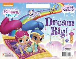 Nickelodeon Shimmer And Shine Dream Big Coloring Book With Stickers