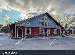 100 Ochre Home Traditional Red Painted Colour Wooden Stock Photo