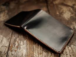 hollows leather black horween shell cordovan wallet with horween