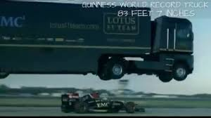 100 Truck Jumps Giant Truck Jumps Over Formula One Car Video Sport The Guardian