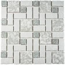 Home Depot Merola Penny Tile by Merola Tile Academy Grey 11 3 4 In X 11 3 4 In X 5 Mm Porcelain