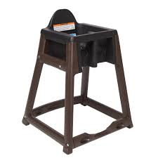 Details About Koala Kare KB966-02 Kidsitter Black High Chair With Brown Legs