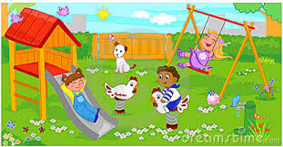 Children Playing On Playground Clipart 13
