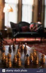 Chessboard in living room in Ann Bean Inn Bed & Breakfast in Stock