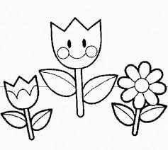 Preschool Coloring Pages Flowers Free Printable