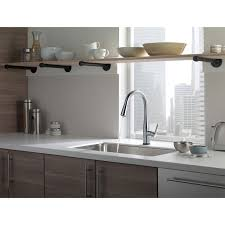 Delta Touch Faucet Battery Location by Delta Essa Single Handle Pull Down Kitchen Faucet W Touch2o