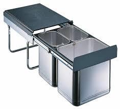 wesco mülleimer küche einbau 40 cm schrank 3 fach mülltrennung edelstahl 515462