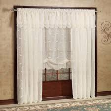 Lace Curtains Panels With Attached Valance sheer curtains curtainshop com