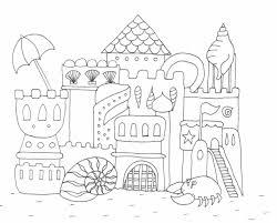 Homokv R Rajz Drawing Sandcastle Coloring Page Sz Nez Within Sand Castle