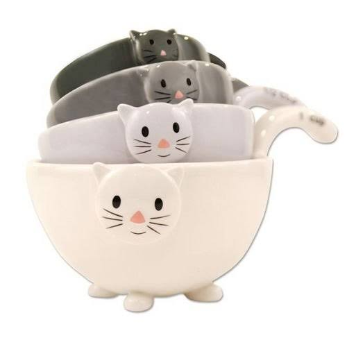 One Hundred 80 Degrees Cat Measuring Cups - Set of 4