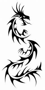 Black Tribal Dragon Tattoo Stencil