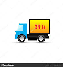 Vector Delivery Truck Icon. 24 Hours Delivery Icon — Stock Vector ... Vector Delivery Truck Icon Isolated On White Background Royalty Stock Art More Images Of Adhesive Truck Icon Flat Free Image Designs Mein Mousepad Design Selbst Designen Style Illustration Delivery Image Clock Offering Getty 24 7 Website Button