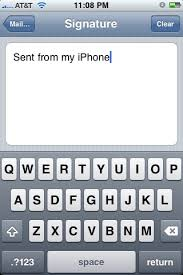 """Remove or Disable """"Sent from my iPhone"""" Email Signature"""