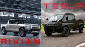 100 Truck Video Rivian R1T Electric Compared To Tesla Pickup