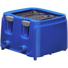 MainstaysTM 4 Slice 6 Adjustable Settings Toaster Glossy Cobalt