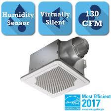 Humidity Sensing Bathroom Fan Wall Mount by Delta Breez Smart Series 130 Cfm Ceiling Exhaust Bath Fan With