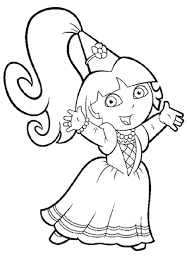 Coloring Pages For Girls Dora Princess