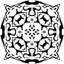 Des Oiseaux Main Blanche Noir Attirée Doodle Ethnique Motifs