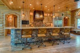 Rustic Log Cabin Kitchen Ideas by Log Home Kitchen Pictures U2013 Iner Co