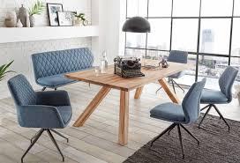 2er set polsterstuhl esszimmerstuhl leonie sitzschale stoff blau grau