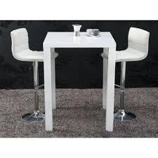 table de bar betty blanc laqué achat vente mange debout table