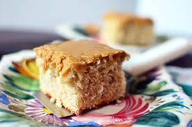Banana Cake with Caramel Frosting Simple Sweet & Savory