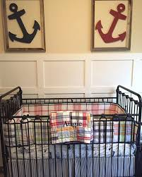 Bratt Decor Crib Skirt by Ahoy It U0027s A Boy This Nautical Nursery Has Everything A Future