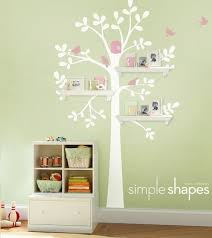 Love the shelves on the painted tree Great idea You could even