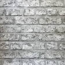 Rustic Grey Brick Wallpaper From Arthouse