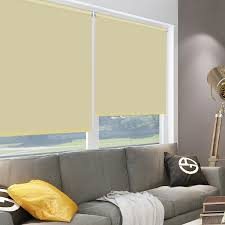 HOMEDEMO Zebra Blinds Double Roller Blinds 70 X 150 Grey Day And