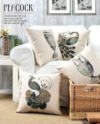 Rustic Throw Pillows Style Bird Cushion Cover Pillow Covers Sofa Interior Design Decoration Chic C