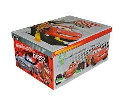 grande boite rangement coffre à jouets enfant disney cars 2 flash