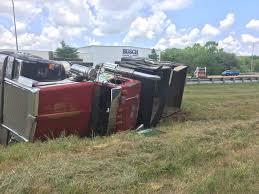 100 Dump Truck Crash PHOTOS Truck Crash Slows Traffic On West Bypass
