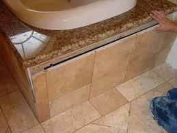 bathtub skirt edge drywall or backerboard ceramic tile advice