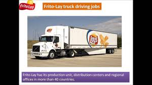 100 Regional Truck Driving Jobs FritoLay Truck Driving Jobs YouTube
