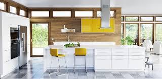 cuisine jaune et blanche decoration cuisine dosseret