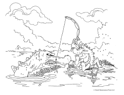 Printable Alligator Coloring Page For Kids