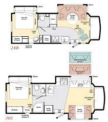C Floor Plans by Winnebago Aspect Class C Motorhome Floorplans Large Picture