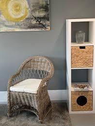details zu rattansessel rattan stuhl korb sessel natur bequem esszimmer wohnzimmer