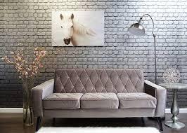 Tufted Velvet Sofa Furniture by Petite Grey Velvet Sofa Button Tufted