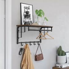 details zu vintage garderobenhaken wandgarderobe wandregal hängestange schlafzimmer lcr12bx