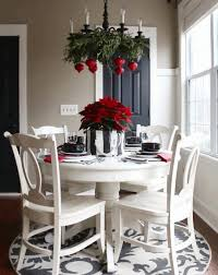 christmas decor for table purple dining kitchen dining decorating