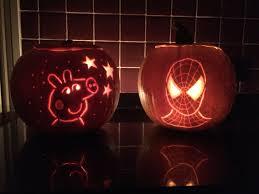 Peppa Pig Pumpkin Carving Ideas by Spiderman And Peppa Pig Pumpkin Hallerween Pinterest