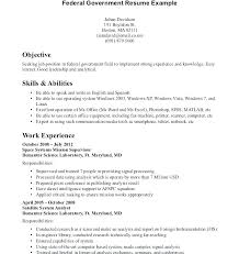 Example Of Federal Resume Cover Letter Job Template Jobs Tips