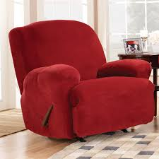 Sure Fit Wing Chair Recliner Slipcover by Sure Fit Stretch Pique Lift Recliner Slipcover Medium Walmart Com