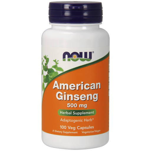 Now Foods American Ginseng - 100 Capsules, 500mg