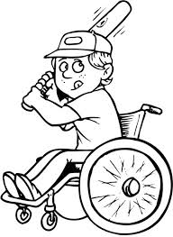 Wheelchair Baseball Player Coloring Page